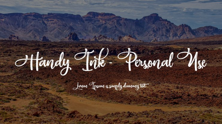 Handy Ink - Personal Use Font