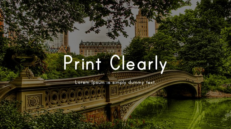 Print Clearly Font Family
