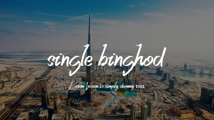 single binghod Font
