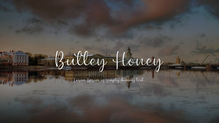 Buttey Honey Font