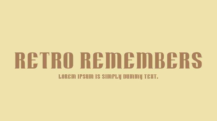 Retro Remembers Font Family