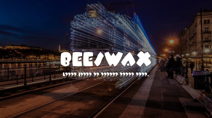 BEESWAX Font