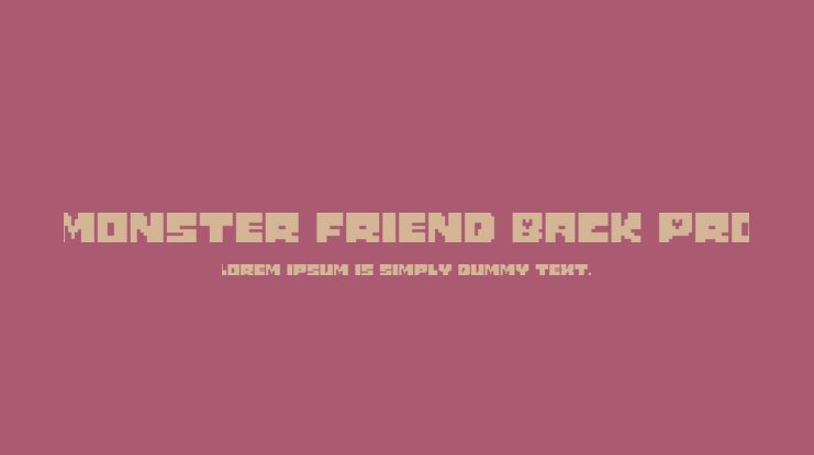 Monster Friend Back Pro Font Family