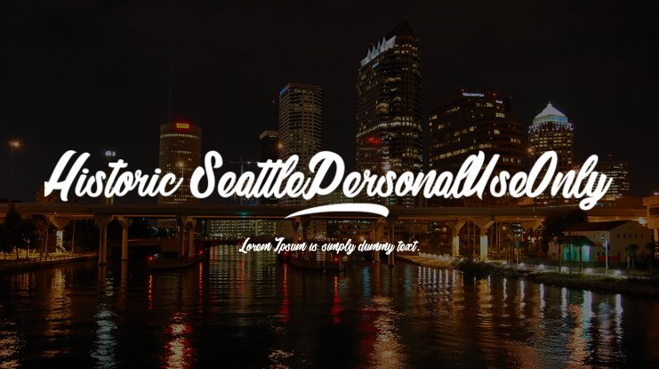 Historic Seattle_PersonalUseOnly Font