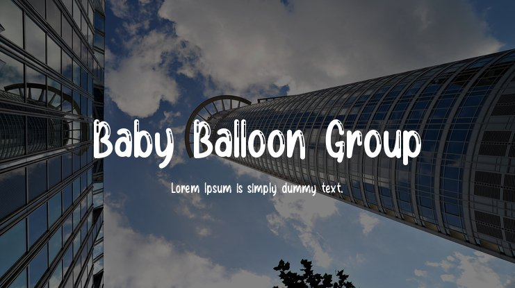 Baby Balloon Group Font Family