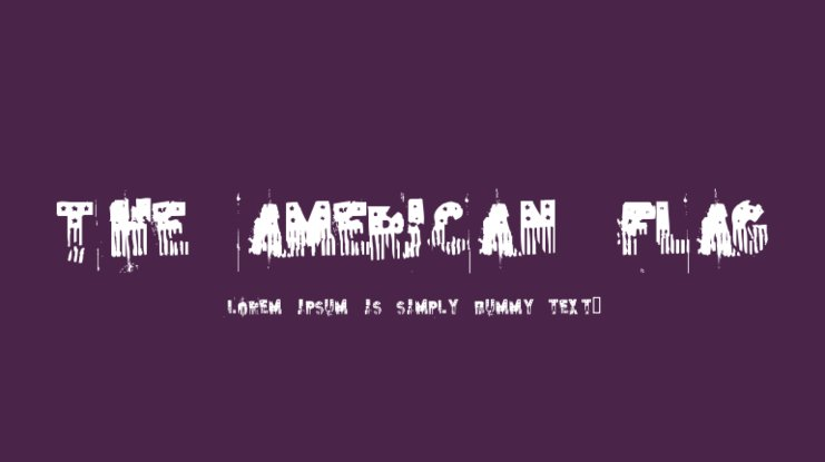 The American Flag Font