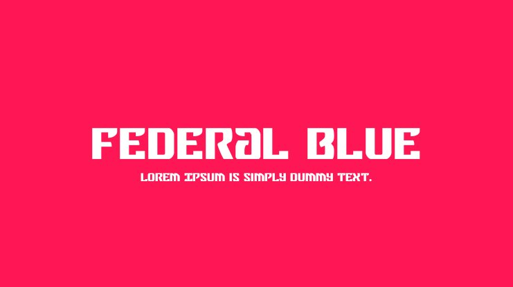 Federal Blue Font Family