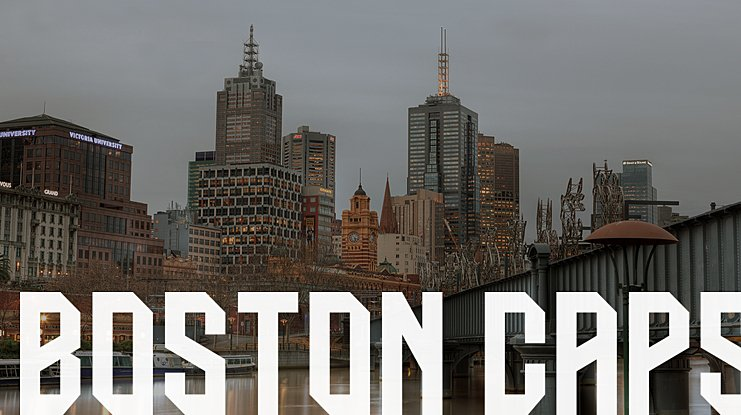BOSTON CAPS Font