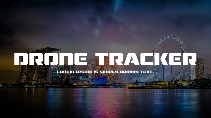 Drone Tracker Font Family