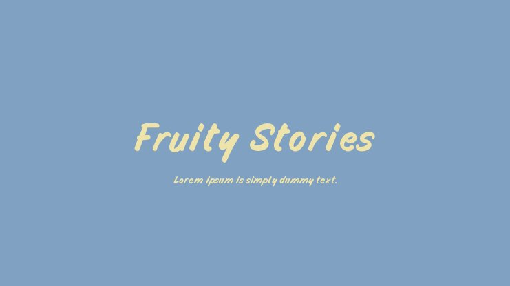 Fruity Stories Font