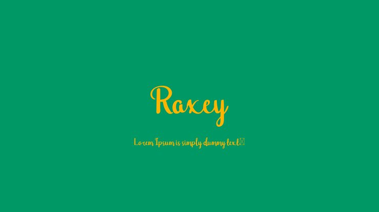 Raxey Font Family