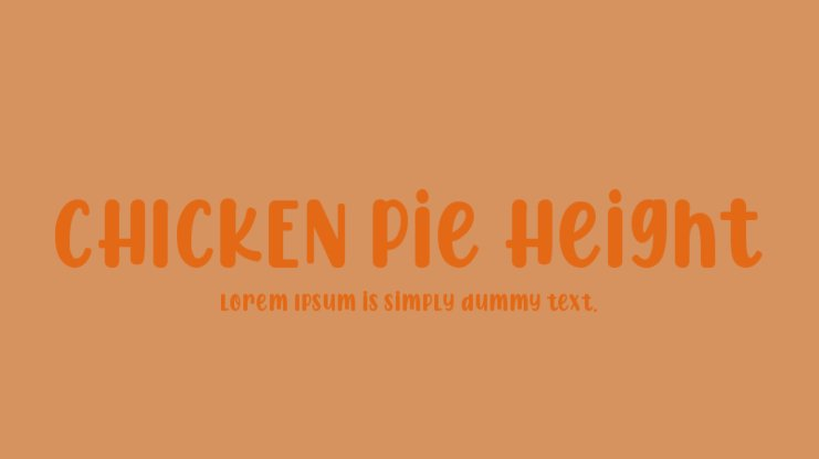 CHICKEN Pie Height Font Family