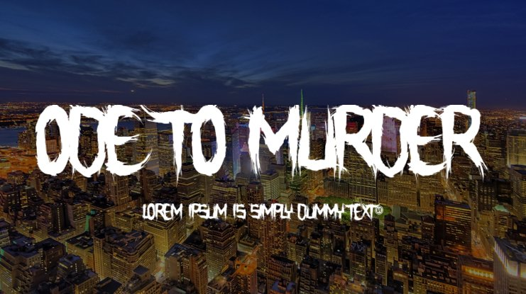 Ode To Murder Font