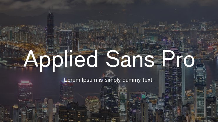 Applied Sans Pro Font Family