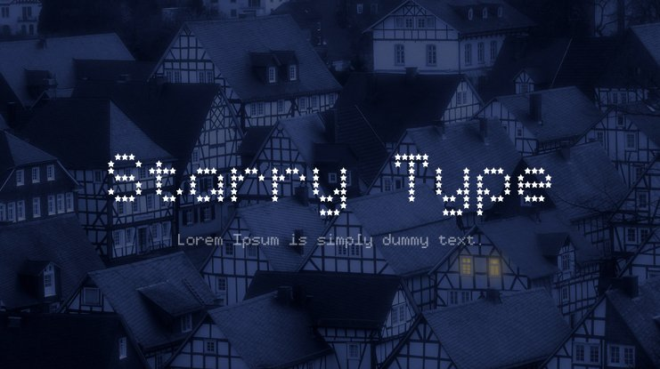Starry Type Font Family