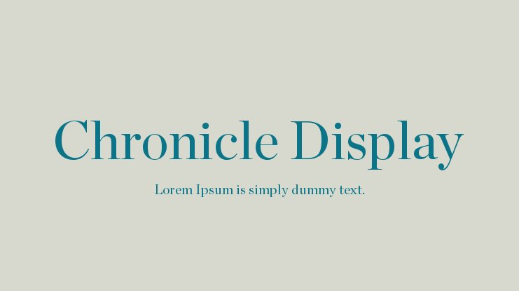 Chronicle Display Font Family