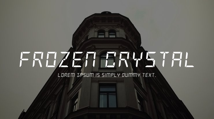 Frozen Crystal Font Family