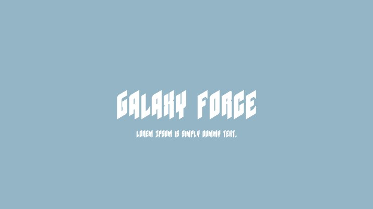 Galaxy Force Font Family