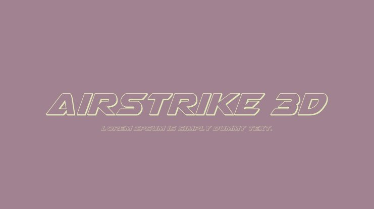 Airstrike 3D Font Family