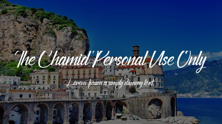 The Chamid Personal Use Only Font
