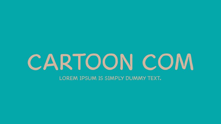 Cartoon Com Font