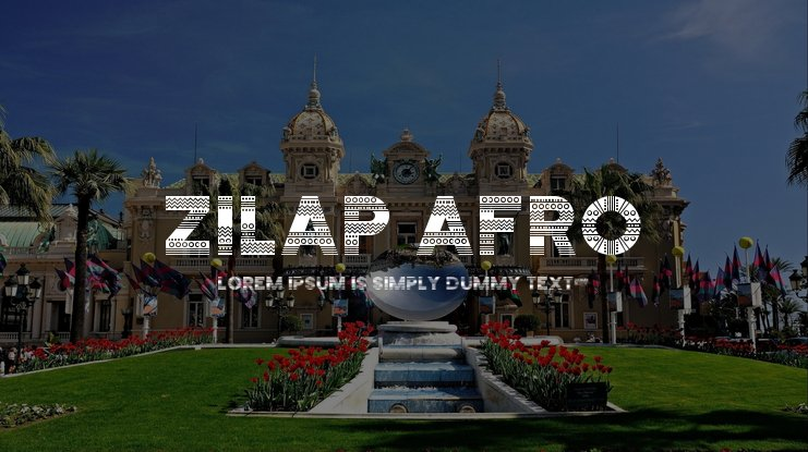 Zilap Afro Font Family