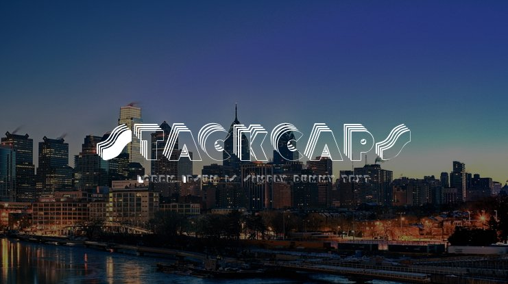 Stackcaps Font