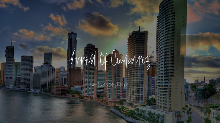 Arrival Of Companies Font