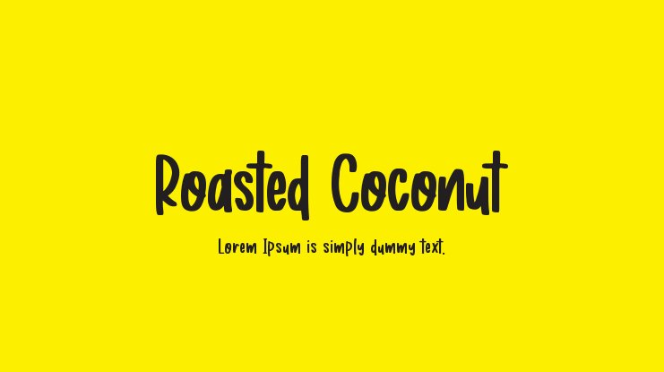 Roasted Coconut Font