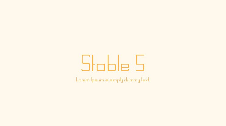 Stable 5 Font Family