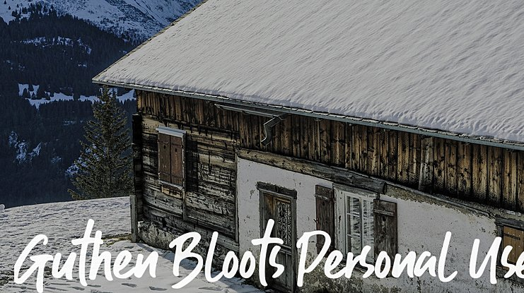 Guthen Bloots Personal Use Font