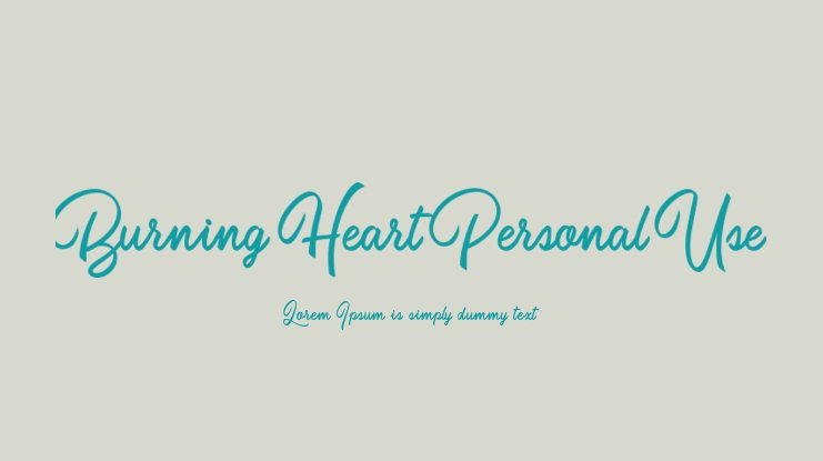 Burning Heart Personal Use Font