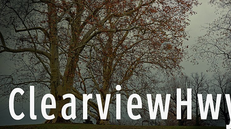 ClearviewHwy Font Family
