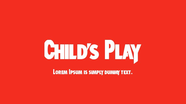 Child's Play Font