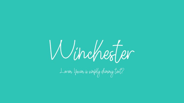 Winchester Font