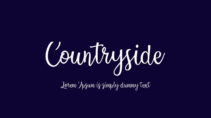 Countryside Font Family