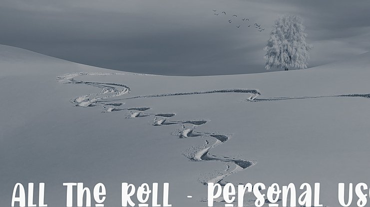 All The Roll - Personal Use Font