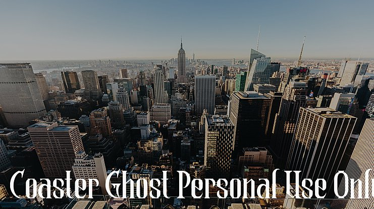 Coaster Ghost Personal Use Only Font