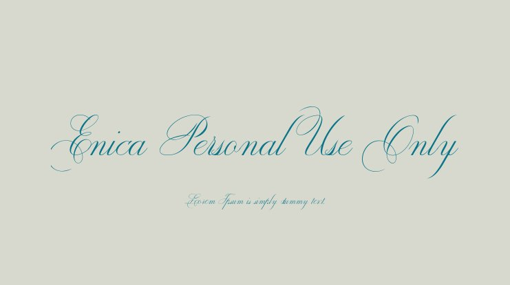 Enica Personal Use Only Font