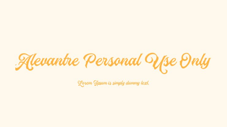 Alevantre Personal Use Only Font