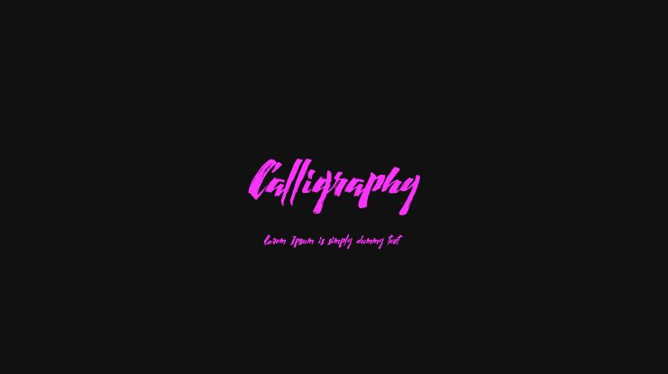 Calligraphy Font Family
