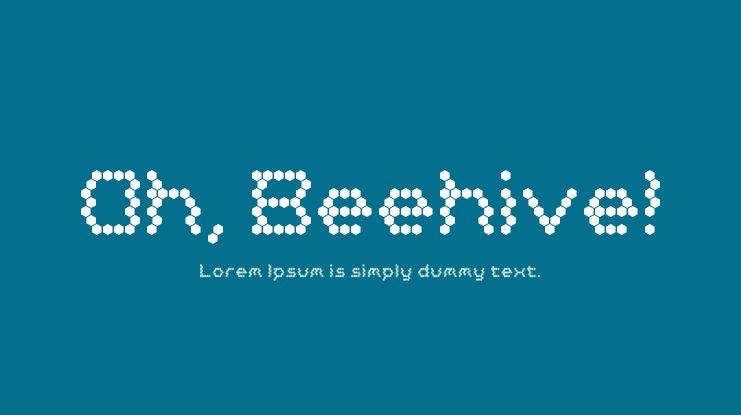 Oh, Beehive! Font