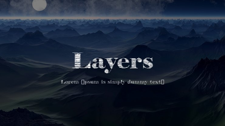 Layers Font