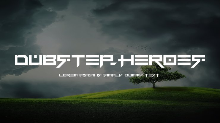Dubstep heroes Font Family