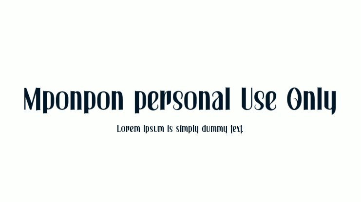 Mponpon personal Use Only Font