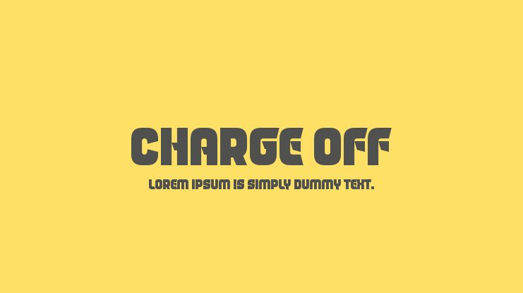 Charge Off Font