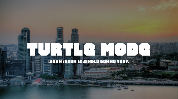 Turtle Mode Font Family