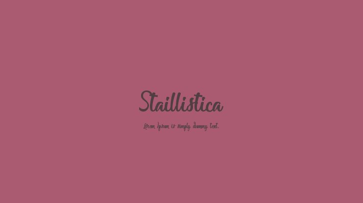 Staillistica Font Family