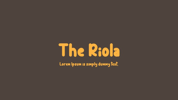 The Riola Font Family