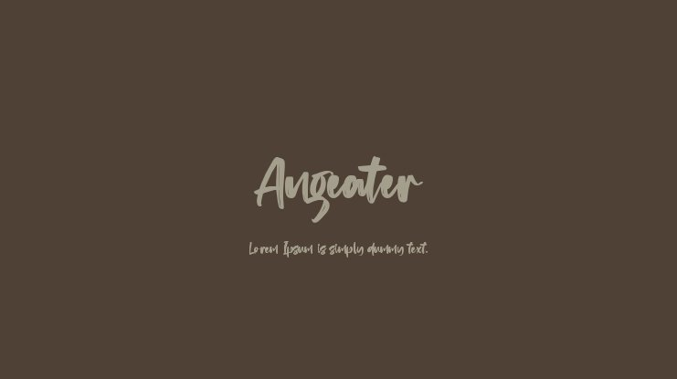 Angeater Font Family